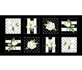 Magnolia | Sandy Lynam Clough | P&B Textiles | Squares Panel
