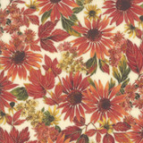 Arboretum Metallic | Moda Fabrics | 33531-11M | Fall Flowers Cream