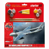 Airfix Medium Starter Set | De Havilland Vampire | 1:72