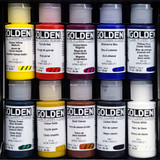 Golden Fluid Artists Acrylic Professional Set 10 Colours x 30ml
