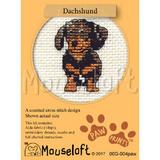 Dachshund | Stitchlets Mini Cross Stitch Kits | Paw Prints | Mouseloft