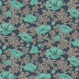Winterbourne House | Liberty Fabrics | 04775731C | Beatrice Poppy 731C