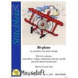 Mouseloft Stitchlets Mini Cross Stitch Kits | Bi-Plane