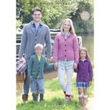 Family Cardigans Knitting Pattern   Sirdar Hayfield Bonus Aran Tweed 9696   Digital Download - Main Image