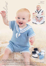 Baby Little Sailor Suit, Booties and Blanket DK Pattern | Sublime Egyptian Cotton DK 6077 - Main Image