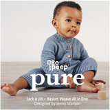 Jack & Jill Basket Weave All In One Knitting Pattern | WYS Bo Peep Pure Knitting Yarn WYS98007 | Digital Download - Main Image