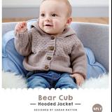 Bear Cub Hooded Jacket Knitting Pattern   WYS Bo Peep 4 Ply Knitting Yarn WYS98981   Free Digital Download - Main Image