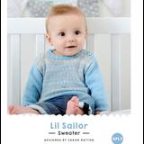 Lil Sailor Sweater Knitting Pattern   WYS Bo Peep 4 Ply Knitting Yarn WYS98984   Free Digital Download - Main Image