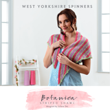 Botanica Striped Shawl Knitting Pattern   WYS Signature 4 Ply Knitting Yarn WYS98978   Free Digital Download - Main Image