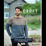 Fergus Colour Block Sweater Knitting Pattern   WYS The Croft Aran Knitting Yarn WYS98045   Digital Download - Main Image