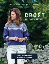 Alice Geo Sweater Knitting Pattern | WYS The Croft Aran Knitting Yarn WYS98056 | Digital Download - Main Image