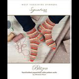 Blitzen Paperchain Cable Pattern Socks (Robin) Knitting Pattern | WYS Signature 4 Ply Knitting Yarn WYS98065 | Free Digital Download - Main Image