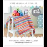 Carousel Crochet Blanket Pattern Knitting Pattern   WYS Bo Peep DK Knitting Yarn WYS58991   Digital Download - Main Image