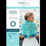 Elegant Crescent Shawl Knitting Pattern | Signature Style 4 Ply Knitting Yarn WYS56990 | Digital Download - Main Image