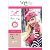 Brittany Lace beret and hand warmers Knitting Pattern | Signature Style 4 Ply Knitting Yarn WYS56993 | Digital Download - Main Image