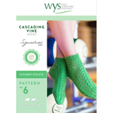 Cascading Vine Socks Knitting Pattern | WYS Signature Style 4 Ply Knitting Yarn WYS56995 | Digital Download - Main Image