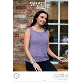 Camilla top Knitting Pattern | Exquisite Lace Knitting Yarn WYS55995 | Digital Download - Main Image