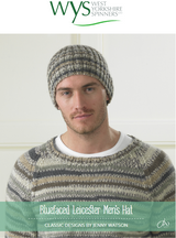 Mens Hat Knitting Pattern   Bluefaced Leicester Knitting Yarn WYS00976   Free Digital Download - Main Image