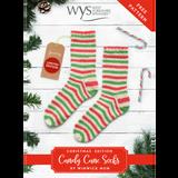 Candy Cane Socks Knitting Pattern | Signature 4 Ply Knitting Yarn WYS56989 | Free Digital Download - Main Image