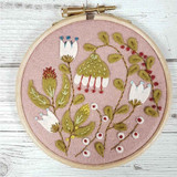 Corinne Lapierre Mini Felt Craft Kit | Folk Garden Hoop - Main Image