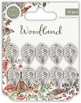 Metal Silver Leaf Charms   Woodland   Clare Therese Gray   Craft Consortium