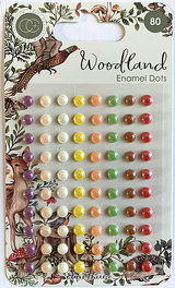 Adhesive Enamel Dots | Woodland | Clare Therese Gray | Craft Consortium