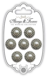 Vintage Pearl Charms | Always & Forever | Craft Consortium - Main Image