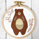 Corinne Lapierre Appliqué Felt Embroidery Hoop Kit | Folk Bear