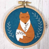 Corinne Lapierre Appliqué Felt Embroidery Hoop Kit | Folk Fox