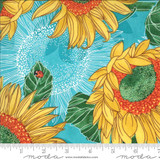 Sunflowers on Aqua | Robin Pickens | Solana | 48680-11