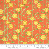 Solana | Robin Pickens | Moda Fabrics | 48683-18 Stalks on Clementine