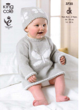 Babies / Childs Dress and Waistocat DK Pattern | King Cole DK 3735