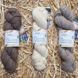 WYS Bluefaced Leicester Aran Weight Yarn 100g Hanks   Various Shades