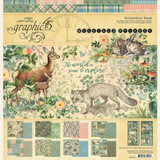 """Woodland Friends   Doubled-Sided 12"""" x 12"""" Patterns & Solids Pad"""