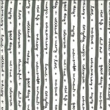 Quotation | Zen Chic | Moda Fabrics | 1732-12 Quotes Graphite