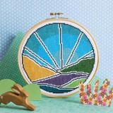 Hawthorn Handmade | Cross Stitch Kit | Blue Sky - Main Image