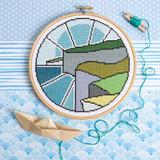 Hawthorn Handmade | Cross Stitch Kit | Cliff Top Walk - Main Image