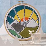 Hawthorn Handmade | Cross Stitch Kit | Mountain Adventure - Main Image