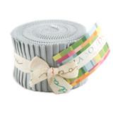 Bella Solids | Moda Fabrics | Junior Jelly Roll | 9900JJR-185 | Zen Grey