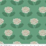 New Dawn | Riley Blake | C9852-Green | Mosaic Roses on Green