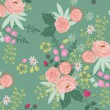New Dawn | Riley Blake | C9850-Green | Rose Bunch on Green