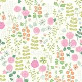 New Dawn | Riley Blake | C9851-Cream | Cottage Garden Flowers on Cream