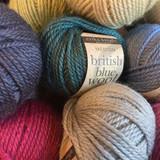 Erika Knight British Blue DK Knitting Wool | 25g | A Variety of Colours