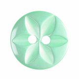 Polyester Star Buttons | 14 mm | Turquoise (G203222-35)