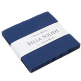 Bella Solids | Moda Fabrics | Charm Pack | 9900-236 | Nautical Blue (9900PP-236)