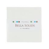 Bella Solids | Moda Fabrics | Charm Pack | 9900-98 | White (9900PP-98)