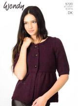 Yoked Jacket DK Pattern | Wendy Merino DK | 5720