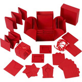 Explosion Box with Central Box   Red   Creativ Company - Main Image