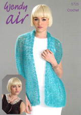 Lacy Shawl and Collar Crochet Pattern | 5725 | Wendy Air - Main image