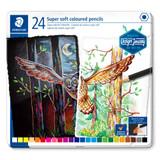 Staedtler Super Soft Coloured Pencils | Tin of 24 - Main Image